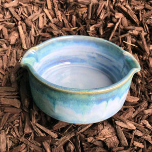 Blue and Jade Baking Dish by Rosemarie Durr - Craft Shop Bantry