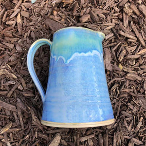 Blue and Jade Jug by Rosemarie Durr - Craft Shop Bantry