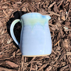 Blue and Jade Milk Jug by Rosemarie Durr - Craft Shop Bantry