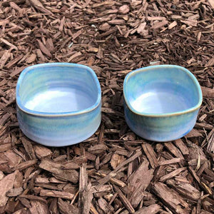 Blue and Jade Ramekin by Rosemarie Durr - Craft Shop Bantry