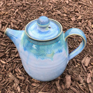 Powder Blue Tea Pot by Rosemarie Durr
