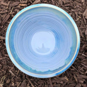 Blue and Jade Set of 3 Bowls by Rosemarie Durr - Craft Shop Bantry