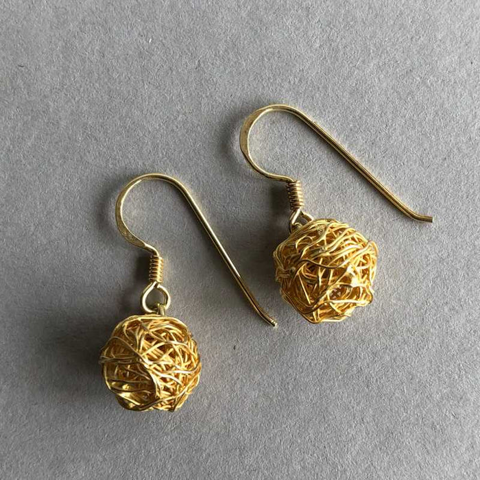 Tessa's Tangled Gold Wire Drop Earrings