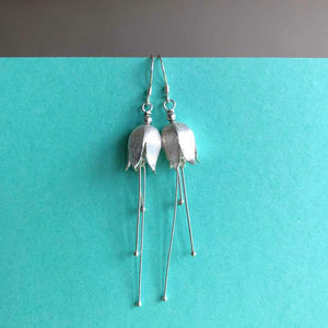 Fuchsia Drop Earrings, Sterling Silver - Craft Shop Bantry