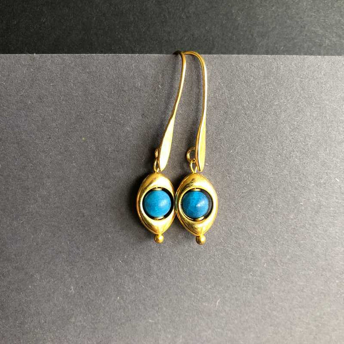 Maeve's Gold plated Teardrop and Jade Earrings