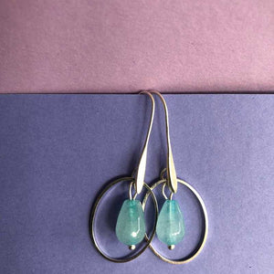 Jade and Oval Earrings - Craft Shop Bantry