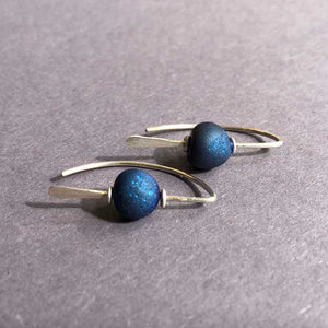 Cobalt Blue and Sterling Silver Earrings, Small - Craft Shop Bantry