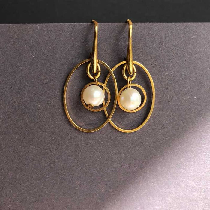 Roisin's Gold and Pearl Earrings