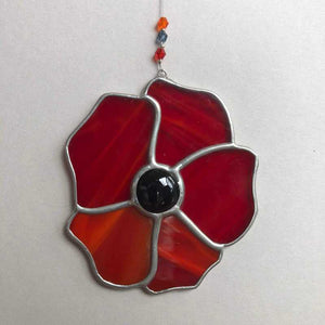Stained Glass Poppy - Craft Shop Bantry