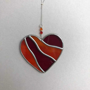 Stained Glass Love Heart - Craft Shop Bantry