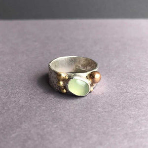 Prehnite Bubble Rose Ring - Craft Shop Bantry