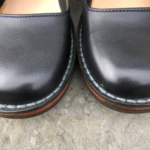 Handmade Court Leather Shoes - Black - Craft Shop Bantry