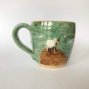 Dun Oir Sheep Cup - Green - Craft Shop Bantry