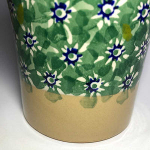 Nicholas Mosse Tall Cup in Green Lawn Pattern