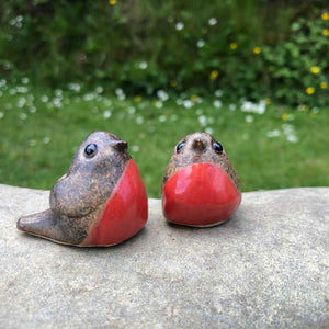 Ceramic Robins by Anne Hayes - Craft Shop Bantry