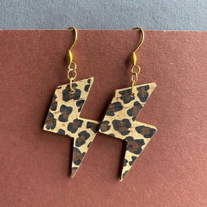 Leopard Print Bowie Earrings