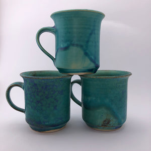 Turquoise Straight Mug by Marianne Klopp - Craft Shop Bantry