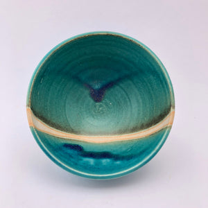 Turquoise Cereal Bowl by Marianne Klopp - Craft Shop Bantry