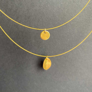 Brushed Gold Leaf Necklace