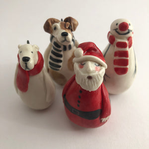 A Selection of Ceramic Christmas Decorations by Joanne Robey - COMING AGAIN SOON - Craft Shop Bantry
