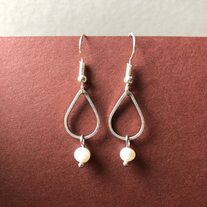 Pearl and Teardrop Earrings - Craft Shop Bantry