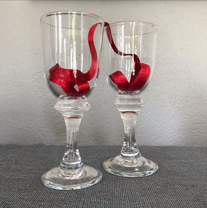 Jerpoint Glass Studios Straight Wine Glass - Craft Shop Bantry