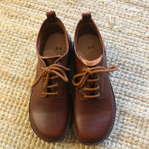 Handmade Leather Ankle Boots - Brown - Craft Shop Bantry