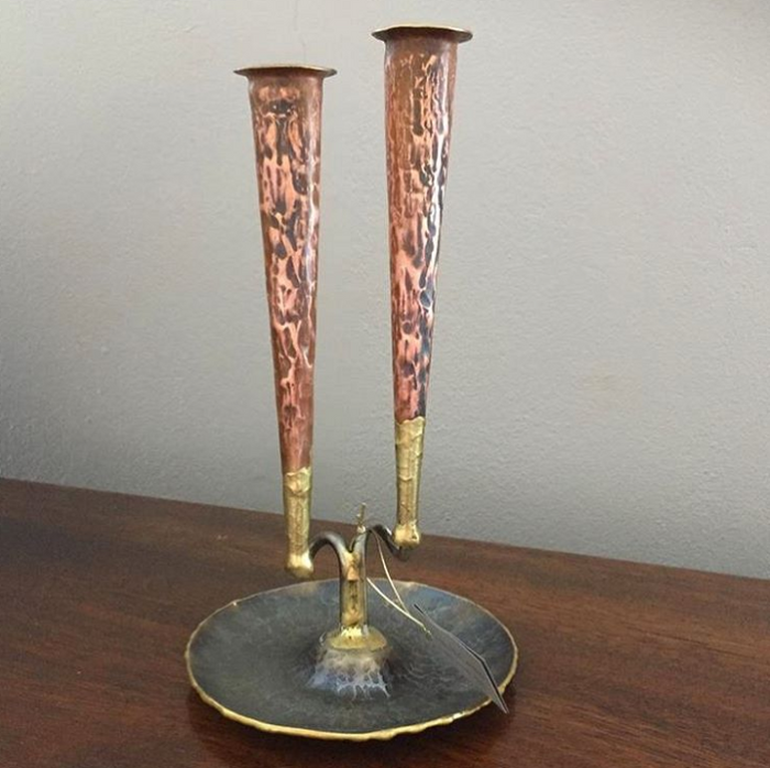 Ram Copper Candle Holder