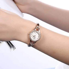 SOXY Rhinestone Casual Style Stainless Steel Bracelet Watch