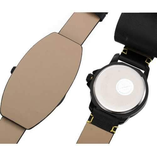 SINOBI 9556 Casual Men Sport Watch Fashion Army Military Leather Analog Wrist Watch
