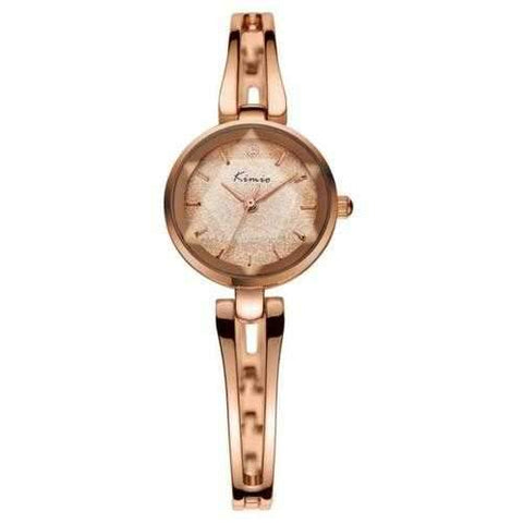 KIMIO KW6033S Fashion Women Quartz Watch Dimensional Mirror Ladies Dress Bracelet Watch
