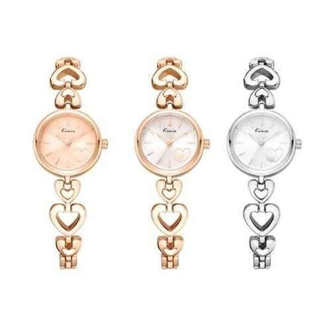 KIMIO K6206S Fashion Women Quartz Watch Elegant Heart-sharp Ladies Bracelet Watch