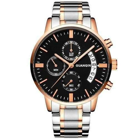 GUANQIN GS19053 Luxury Multi-function Men Quartz Watch Fashion Fine Steel Strap Wrist Watch