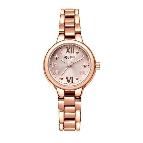JULIUS 919 Simple Alloy Case Fashion Girls Students Quartz Wrist Watch