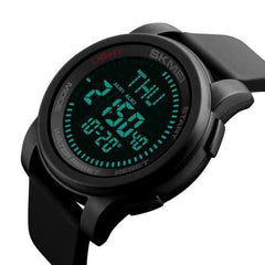 SKMEI 1289 50M Waterproof Fashion Sport Compass  Watch Military Outdoor Digital Men Wristwatch