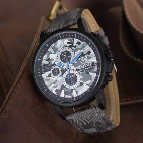 YAZOLE 402 Sport Watch Camouflage Military Male Quartz Analog Wrist Watch