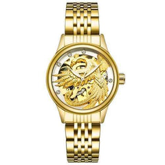 TEVISE 9006 Hollow Phoenix Dragon Pattern Mechanical Watch