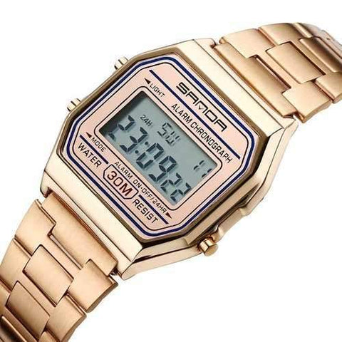 SANDA 405 Luxury Multifunction Business Men Digital Watch
