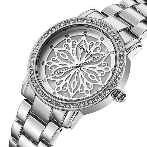 CRRJU 2109 Diamonds Dial Case Women Wrist Watch