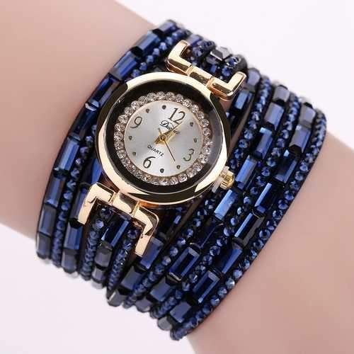 DUOYA DY004 Crystal Casual Style Ladies Bracelet Watch