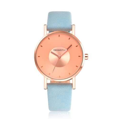 REBIRTH RE055 Rose Gold Case Casual Style  Women Wrist Watch