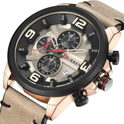 CURREN 8288 Chronograph Calendar Quartz Wrist Watch