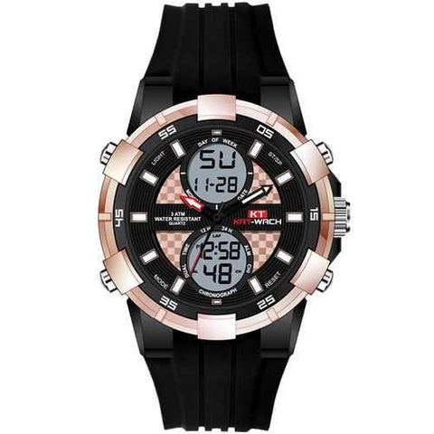 KAT-WACH KT711 Chronograph Sport Dual Display Digital Watch
