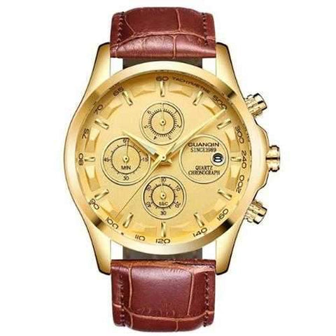 GUANQIN GS19112 Chronograph Sport Style Men Quartz Watch