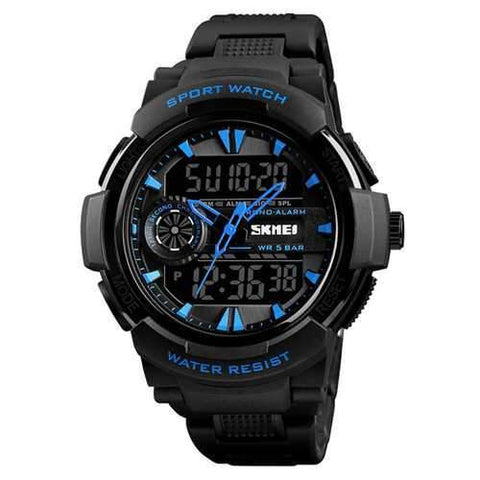 SKMEI 1320 Chronograph Sport Dual Display Digital Watch