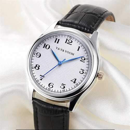 VA VA VOOM VA-203 Leather Strap Business Style Quartz Watch
