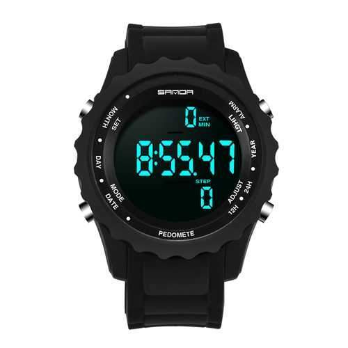SANDA 370 Pedometer Motor Timing Outdoor Sport Digital Watch