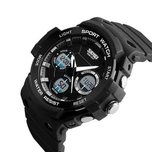 SKMEI 1247  Luminous Chronograph Dual Display Digital Watch