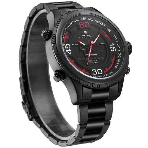 WEIDE 6306 Calendar Luminous Dual Display Digital Watch