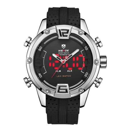 WEIDE WH7301 Silicone LED Sport Dual Display Digital Watch